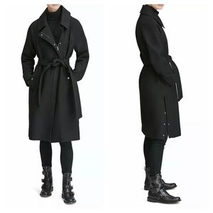 Marc New York Belted Wool Coat